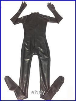 100% Latex Rubber Gummi. 48mm Bodysuit Girl's Catsuit Suit Zentai Leotard Socks