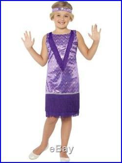 20er Jahre Charleston Kleid für Mädchen Größe L Kinder Tallulah lila Karneval