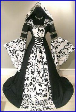 2 Medieval Wedding Dresses Goth Girl Larp Costume Halloween Renaissance