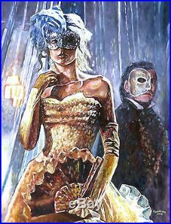 31 Fantasy Theater Girl Phantom Masquerade Fancy Dress Princess Fairy Painting