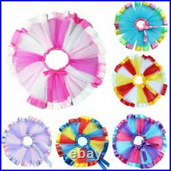 3 Layers Tutu Skirt Rainbow Skirt Tulle Princess Fancy Dress Halloween Girls