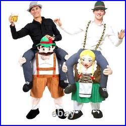 Adult Carry Me BAVARIAN BEER GUY or GIRL MAID Oktoberfest Fancy Dress Mascot