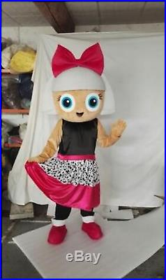 Adult Doll Party Mascot Costume Christmas Fancy Dress Halloween Girls Parade