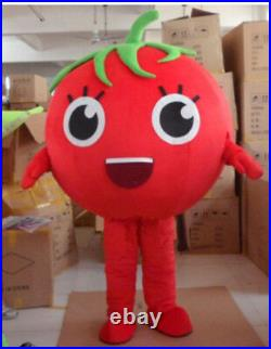 Advertising Store Costume Vegetable Tomato Girl Mascot Cosplay Adult Dress Party