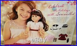 American Girl SAMANTHA 18 DOLL & TWO OUTFITS Party Dress & Fancy Coat Fast Ship