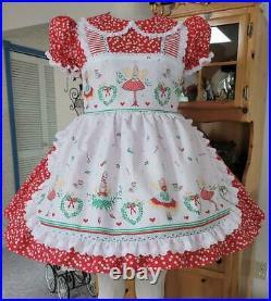 Annemarie-Adult Sissy Baby Girl Dress Lolita HoHoHo! Ready to Ship