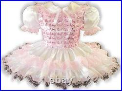 Ashley CUSTOM FIT Lacy Satin Organza Adult Little Girl Sissy Dress LEANNE