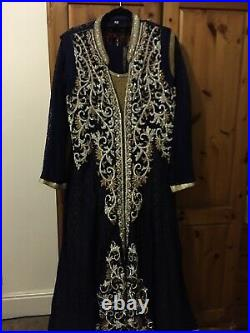 Asian Heavy Bead Work Occasion Dress
