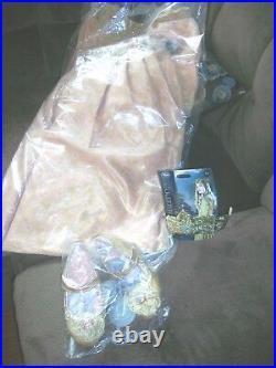 Autentico Disney Negozio Deluxe Aurora Vestito 5/6, Tiara, & Scarpe 11/12