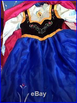 Authentic Disney Store Frozen Princess Anna Costume Size 5/6 NWT Bonus Tiara
