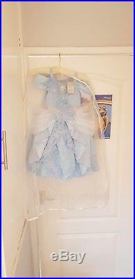 Authentic Disney Store Princess Cinderella Costume Dress. Age 3-4. BLUE