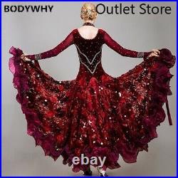 Ballroom Dance Competition Dress Ballroom Waltz Dress Dress Girls Dance Costume