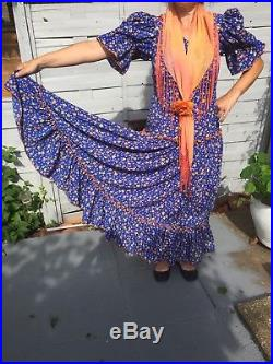 Beautiful Genuine Spanish Flamenco Dress Woman Performance Party size 12
