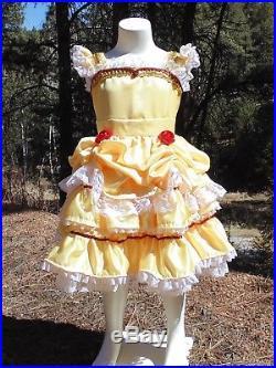 Halloween Costume 4 5.Belle Princess Dress Up Apron Girls 4 5 Halloween Costume Park
