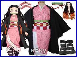 Blade stove Nezuko cosplay kimono costume of Onimetsu from Japan F/S