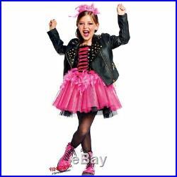 COSTUME di CARNEVALE da LADY PUNK 50637 vestito per ragazza bambina 7-10 Anni tr