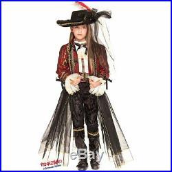 COSTUME di CARNEVALE da PIRATA CORSARA RAGAZZA 28009 vestito per ragazza bambina