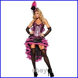 Can Can Costume Adult Saloon Girl French Cabaret Dancer Halloween Fancy Dress