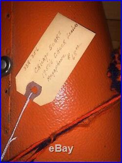 Chicago Bears 1950s Cheerleader NFL Megaphone 24 Orange & Blue Vintage