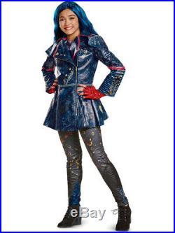 Child's Girls Prestige Disney Descendants 2 Isle Look Evie Costume