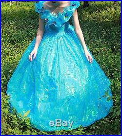 Cinderella Vestito Adulto Cenerentola Donna Woman Cinderella Costumes 8855002 E