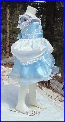 Cinderella princess dress up apron girls 4-5 halloween costume park vacation