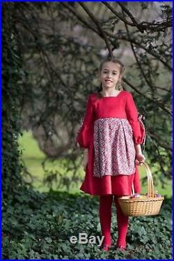 Costume Petit Chaperon Rouge Fille Velours rouge Robe Princesse Cape déguisement