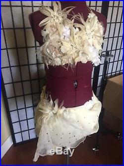 Custom White Lyrical Competition dance Costume