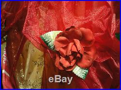 DELUXEPrincess BelleCOSTUMERed ChristmasHolidayDressNWTDisney Store2011