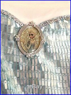 DISNEY STORE COSTUME ELSA FROZEN PRINCESS DRESS GOWN 7 8 M 1st Edition Oval