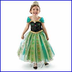 DISNEY STORE Frozen Princess Anna Deluxe Coronation Dress Costume 7 8, 9 10