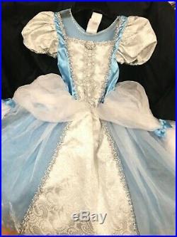 DISNEY STORE Girls VINTAGE PRINCESS CINDERELLA Dress Costume GOWN SMALL NWT
