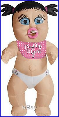 Daddy's Girl Inflatable Baby Infant Funny Fancy Dress Up Halloween Adult Costume