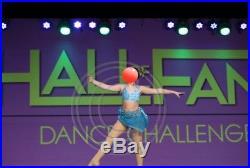 Dance costume size child XL (10/12) Aqua/Teal