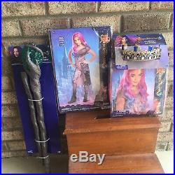Descendants 3 AUDREYChild 7-8 Disguise CostumeWigHTF STAFFCROWNTote