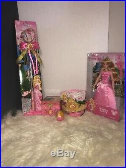 Disney Authentic Princess Aurora Costume Dress Plus Accesrories Size Medium 7/8