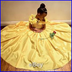 Disney Belle Beauty & the Beast inspired dress, Birthday, Wedding, Age 3-12 Yrs