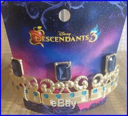 Disney Descendants 3 Audrey Costume M7/8 Cape Wig Tiara Necklace Overnight Ship