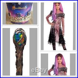 Disney Descendants 3 Audrey Costume XL Wig Tiara & Staff Overnight Ship Avlb