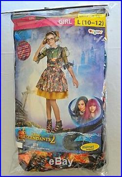 Disney Descendants DIZZY Tremaine costume L girls 10-12 dress headphones NWT