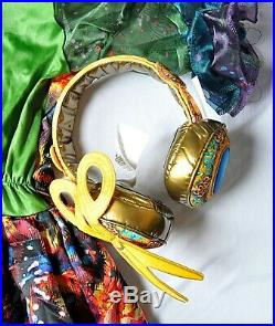 Disney Descendants DIZZY Tremaine costume M girls 8-10 dress headphones NWT