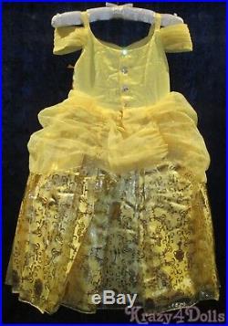 Disney Designer Fairytale Belle Deluxe Girls Princess Costume Dress 5-6 New