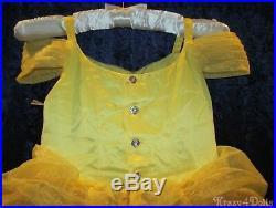 Disney Designer Fairytale Belle Deluxe Girls Princess Costume Dress size 4 New