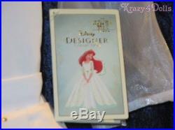 Disney Designer Princess Ariel Wedding Gown Dress Deluxe Girls Costume 5-6 New