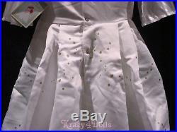 Disney Designer Princess Ariel Wedding Gown Dress Deluxe Girls Costume 7-8 New