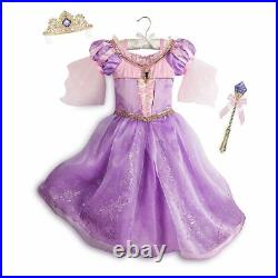 Disney NWT Deluxe Tangled Rapunzel Interactive Light Up costume 5/6 5 6 NEW