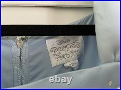Disney Princess Signature Collection Girls Cinderella Dress size XL Light Blue