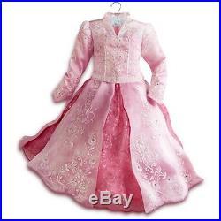 Disney Store AURORA Sleeping Beauty LIMITED EDITION Costume Girls Dress SIZE 5