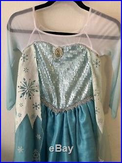 Disney Store Authentic Elsa Frozen Dress RARE Size 7/8 First Edition 2013