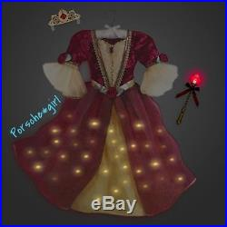 Disney Store Belle Interactive Costume Beauty and the Beast Size 5 6 RARE NIP